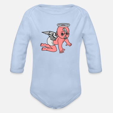 Angel affectionate angels angel angels angels angels ang - Organic Long-Sleeved Baby Bodysuit