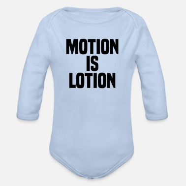 Motion Motion is lotion - Organic Long-Sleeved Baby Bodysuit