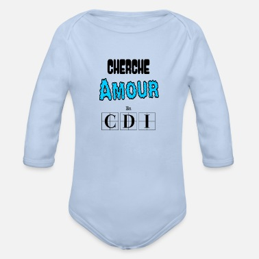 Seeking Love in CDI Cuddles Tenderness Gift - Organic Long-Sleeved Baby Bodysuit