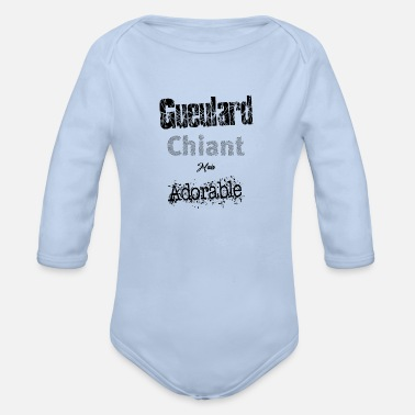 Gueulard Biant but Adorable Funny Gift - Organic Long-Sleeved Baby Bodysuit