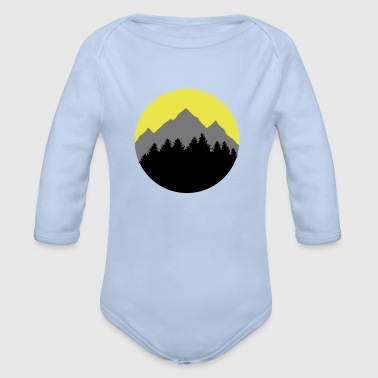 Forest, Mountains, Sunrise/Sunset - Baby bio-rompertje met lange mouwen