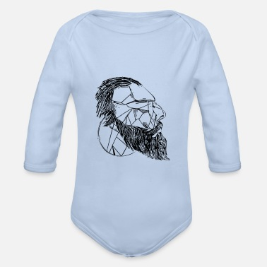 Thinkers thinker - Organic Long-Sleeved Baby Bodysuit