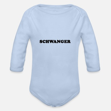 Pregnant PREGNANT - Organic Long-Sleeved Baby Bodysuit