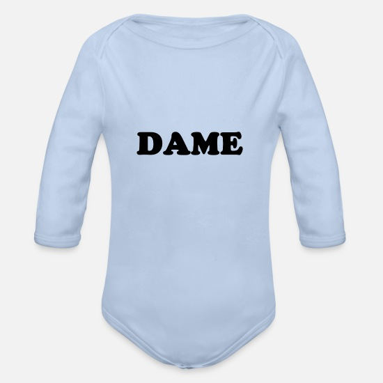 Insurance Baby Clothes - LADY - Organic Long-Sleeved Baby Bodysuit sky