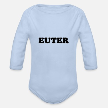 Udder UDDER - Organic Long-Sleeved Baby Bodysuit
