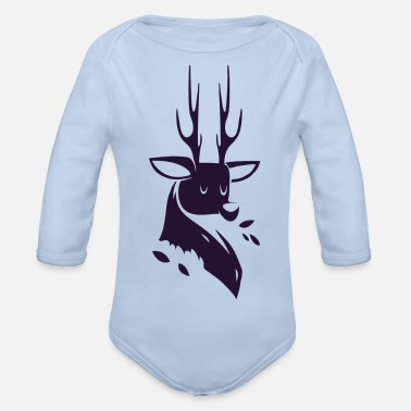 deer - Organic Long-Sleeved Baby Bodysuit