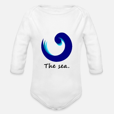 I-love-the-blues The Sea. - blue edition - Baby Bio Langarmbody