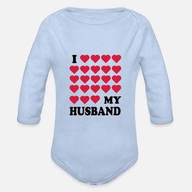Husband husband - Organic Long-Sleeved Baby Bodysuit