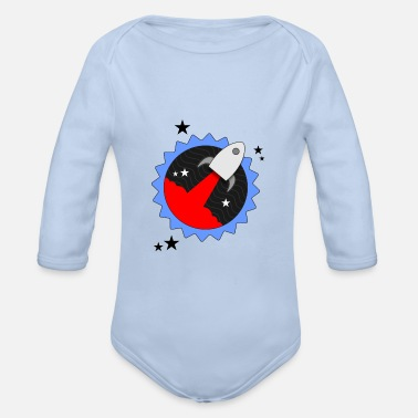 Rocket Star - Organic Long-Sleeved Baby Bodysuit