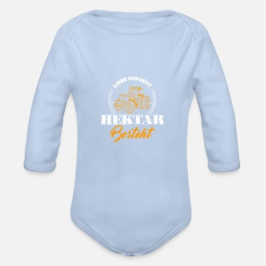 Hectare Love Passes Hectar Consists Farmer Farmer - Organic Long-Sleeved Baby Bodysuit