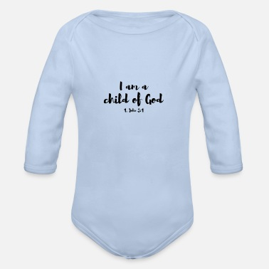 Bibelvers I am a child of God - Baby Bio Langarmbody