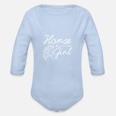 Ride A Horse Horse girl horse riding horse riding horse riding - Organic Long-Sleeved Baby Bodysuit