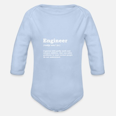 Engineer Engineer Mechanical Engineer Elektrotechni - Organic Long-Sleeved Baby Bodysuit