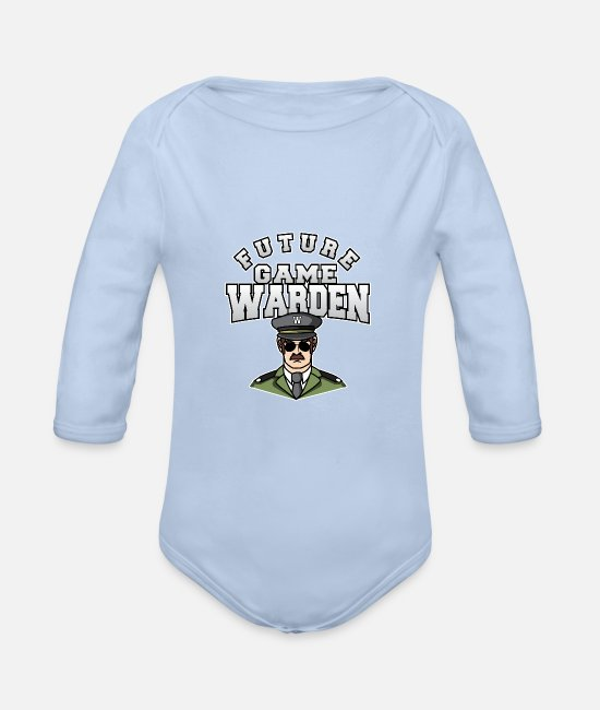 Nature Baby Bodysuits - Future Game Warden Wild Animal Lover - Organic Long-Sleeved Baby Bodysuit sky