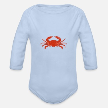 Crab Red Crab Crab Lover Sea Crabs Crabbing - Organic Long-Sleeved Baby Bodysuit