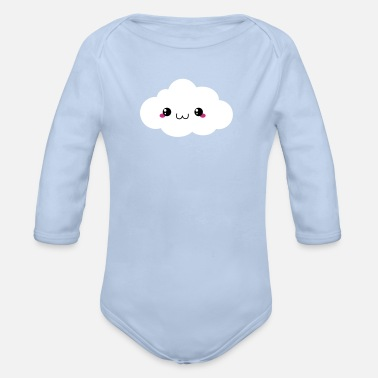Wolke Happy Kawaii Wolke - Baby Bio-Langarm-Body