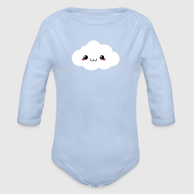 Happy Kawaii Cloud - Organic Longsleeve Baby Bodysuit