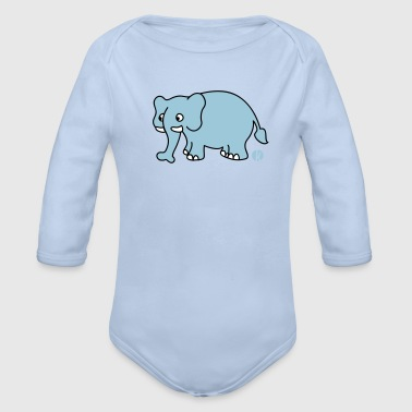 Elefant (mc) - Baby Bio-Langarm-Body