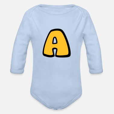 Alphabet Alphabet A - Organic Long-Sleeved Baby Bodysuit