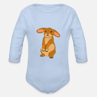 Floppy Ears Hare floppy ear - Organic Long-Sleeved Baby Bodysuit