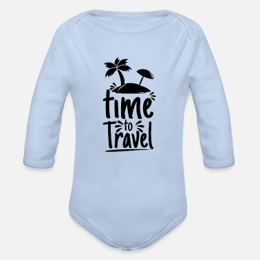 Travel Clothing it's time to travel - Organic Long-Sleeved Baby Bodysuit