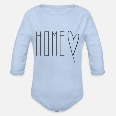 Home Home home - Organic Long-Sleeved Baby Bodysuit