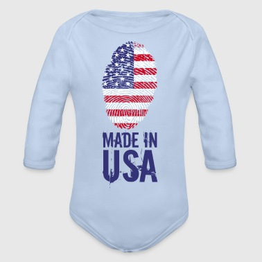 Made in USA / Made in USA Amerika - Baby bio-rompertje met lange mouwen