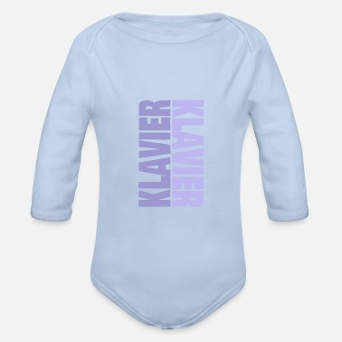 Musical Instrument Piano musical instrument instrument music - Organic Long-Sleeved Baby Bodysuit