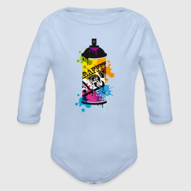 A spray can in graffiti style  - Organic Longsleeve Baby Bodysuit