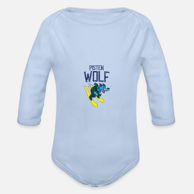 Slope Skiing on slopes - Organic Long-Sleeved Baby Bodysuit