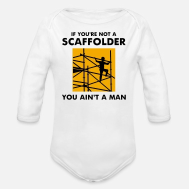 Stage Scaffolder Scaffold Builder Scaffolding Platform - Organic Long-Sleeved Baby Bodysuit