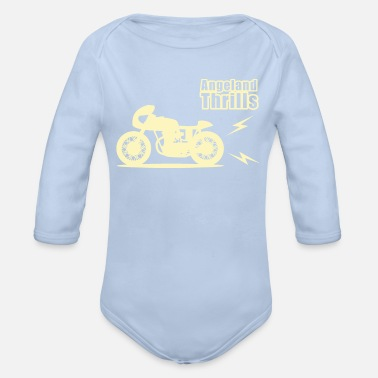 Motorcycle Angeland Racer Angeland Thrills - cream - Organic Long-Sleeved Baby Bodysuit