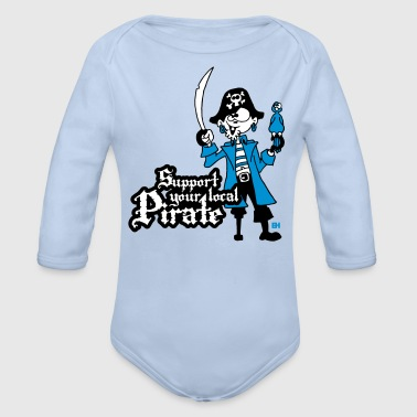 Support your local Pirate - Baby Bio-Langarm-Body