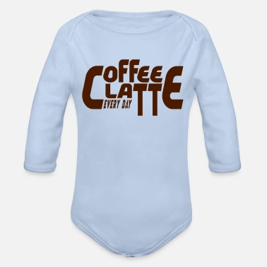 Coffeeshop COFFEE, LATTE, COFFEESHOP, T-SHIRT, GIFT - Organic Long-Sleeved Baby Bodysuit
