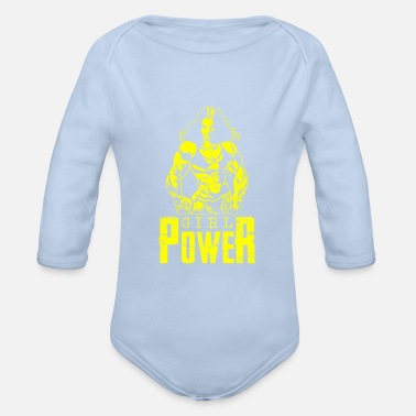 Woman Power Girl power woman power woman - Organic Long-Sleeved Baby Bodysuit
