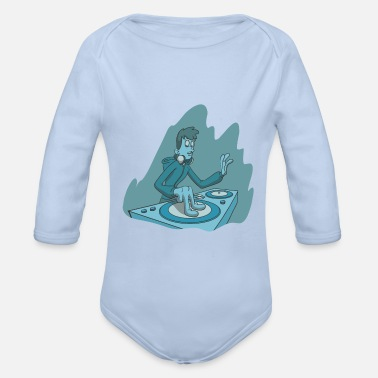 Turn Table DJ at the turn tables turntable - Organic Long-Sleeved Baby Bodysuit