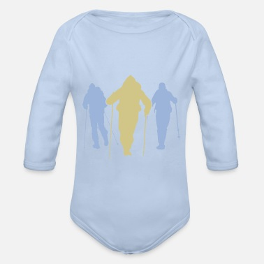 Walking Association Nordic Walking Silhouette Team - Organic Long-Sleeved Baby Bodysuit