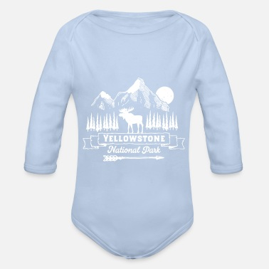 Trekking Clothing Yellowstone National Park Clothing Apparel - Organic Long-Sleeved Baby Bodysuit