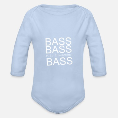 Bass BASS BASS BASS - Organic Long-Sleeved Baby Bodysuit