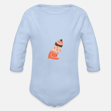 Karlsson cry - Organic Long-Sleeved Baby Bodysuit