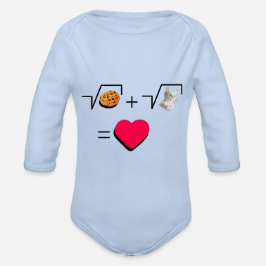 Pull The Root Cookies and cat Cat and biscuits alike love - Organic Long-Sleeved Baby Bodysuit