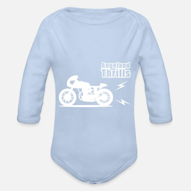 Motorcycle Angeland Racer Angeland Thrills - white - Organic Long-Sleeved Baby Bodysuit