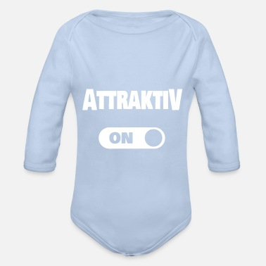 Attractive Attractive - Organic Long-Sleeved Baby Bodysuit