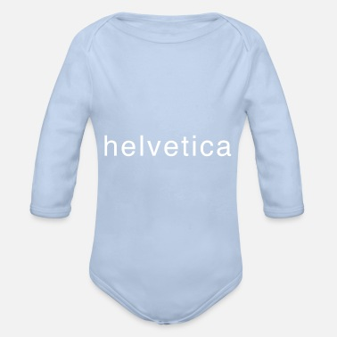Font font - Organic Long-Sleeved Baby Bodysuit