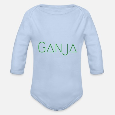 Ganja Ganja Green - Organic Long-Sleeved Baby Bodysuit
