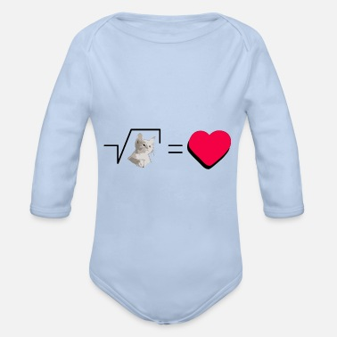 Pull The Root Biscuits Cats Mathematical Hearts Love Love - Organic Long-Sleeved Baby Bodysuit