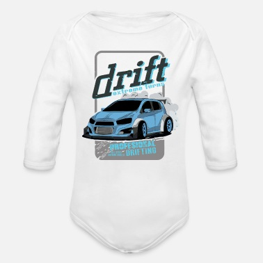 Drifting Drift shirts from our drift collection! - Organic Long-Sleeved Baby Bodysuit