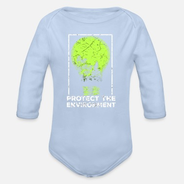 Protection Of The Environment Protect the Environment I Environmental Protection - Organic Long-Sleeved Baby Bodysuit