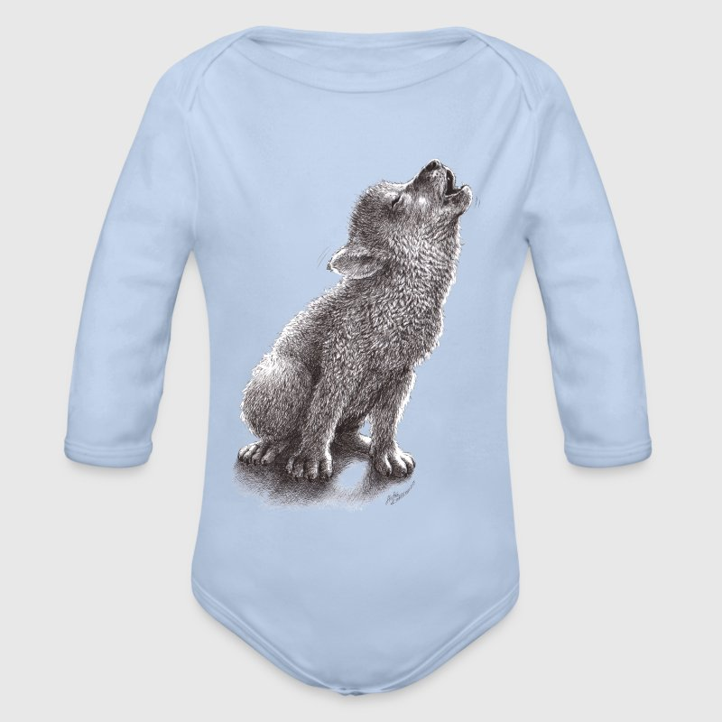 Ulf - Young Howling Wolf - Økologisk langermet baby-body
