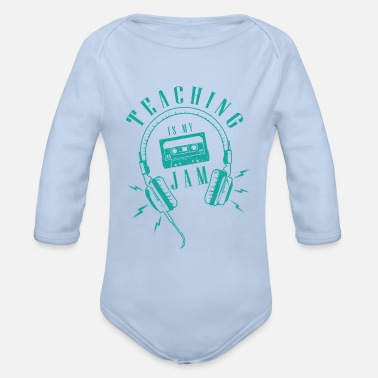 Private Tutoring Music teacher / school / tutoring / gift music - Organic Long-Sleeved Baby Bodysuit